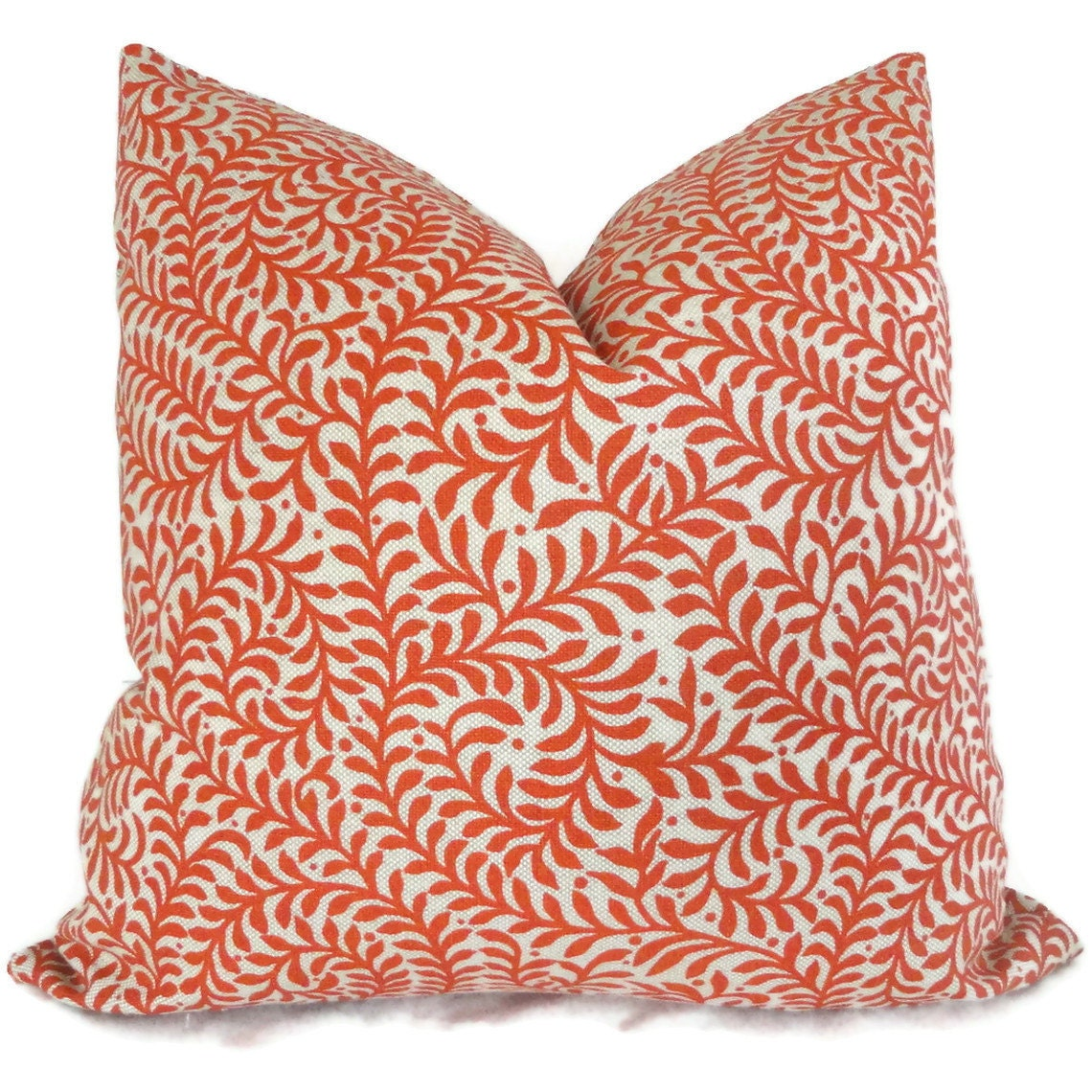 Orange Swirled Branches Decorative Pillow Cover