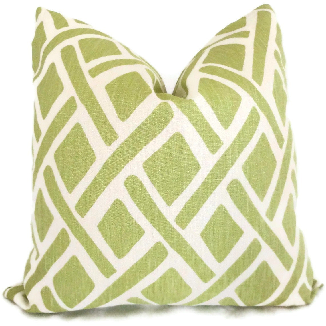 Decorative Pillows For Bed Green : Kravet Green Trellis Decorative Pillow Cover 18x18 20x20