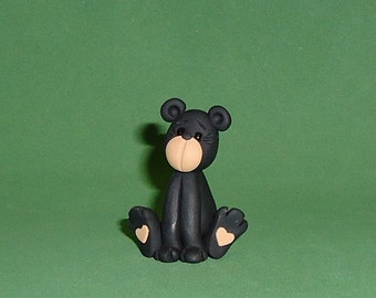 Polymer clay Black Bear