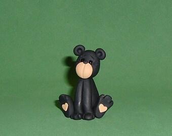 Polymer clay Black Bear