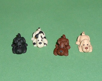 Polymer Clay Tiny Dog (ONE)