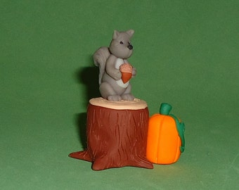 Polymer Clay Squirrel on Stump