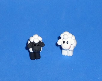 Polymer clay Lamb (One)