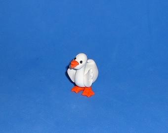 Polymer Clay White Duck