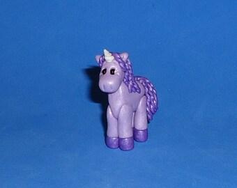 Polymer Clay Purple Unicorn