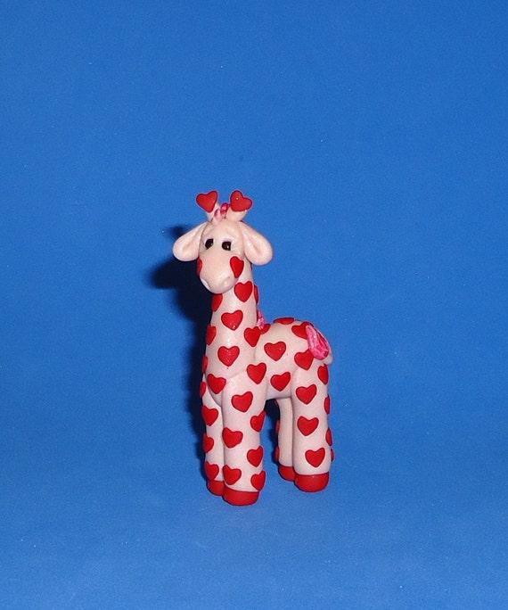 Polymer Clay Valentine Giraffe