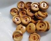 Vintage Wood Button Lot 2 hole (9)
