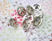 Peace Sign Vintage Buttons Silver Small Lot (24)