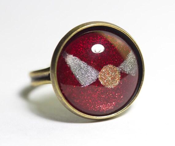 Gryffindor Golden Snitch Nail Polish Ring