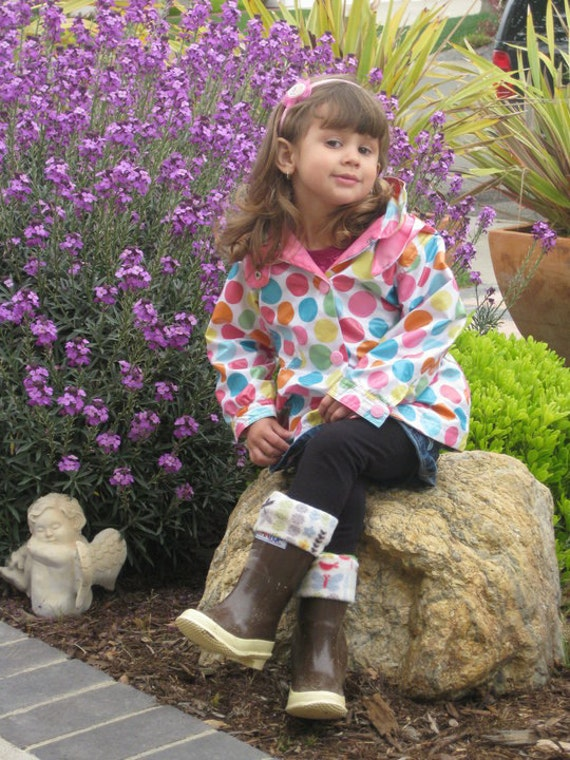 Custom Listing for islandermom SLUGS Fleece Boot Liner, Fall Fashion, Rainy Day Style, Rain Boot Accessories (Childerns size )