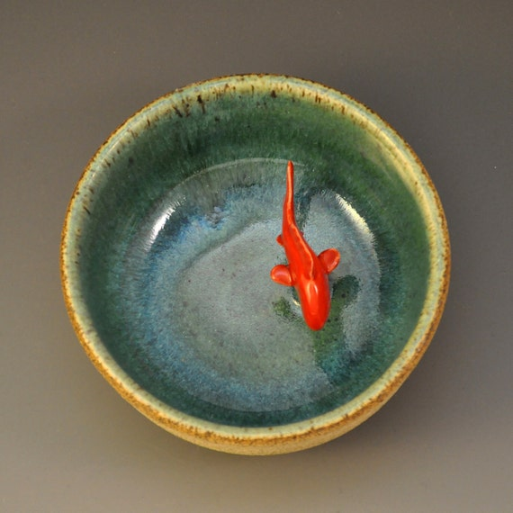 my koi tea bowl green