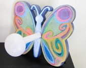 Psychedelic Butterfly Wall Peg