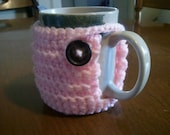 Pink Coffee Mug Cozy