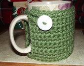 Sage Green Coffee Cozy