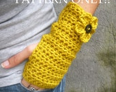 PDF PATTERN Crochet Fingerless Wrist Warmers Short, Medium, Long Sizes