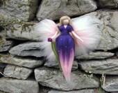 VIOLETTA Needle Felted Wool angel, Flower fairy, Waldorf inspired fairy doll