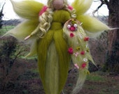 February,  Needle Felted Wool fairy, Nature fairy, Waldorf inspired fairy doll