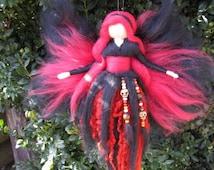 Needle Felted Wool fairy, Guardian fairy, Waldorf inspired fairy doll