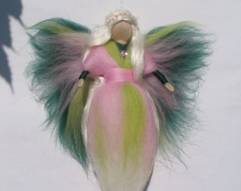 Needle Felted Wool Angel, Guardian angel, Waldorf inspired fairy doll