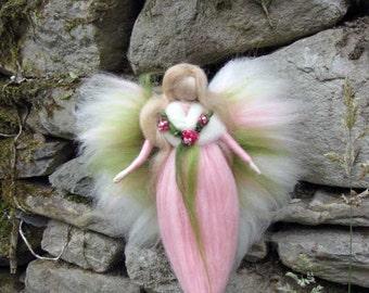 CIARA Needle Felted Wool fairy, Flower fairy, Waldorf inspired fairy doll