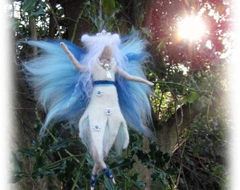 NEVE - nature fairy  Needle and Wet Felted Wool fairy, Nature fairy, Waldorf inspired fairy doll