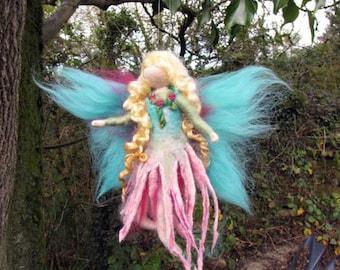 YAARI - nature fairy  Needle and Wet Felted Wool fairy, Nature fairy, Waldorf inspired fairy doll