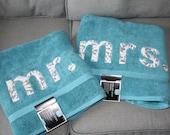 Mr and Mrs Bath or Beach Towel