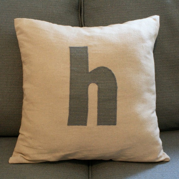 """Personalized letter 16"""" x 16"""" Decorative Pillow Cover"""