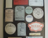 Reserved for Wendi ////////////(((((((())))))))) antique apothecary/pharmacy labels