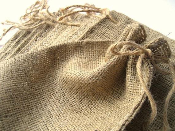 Mini Burlap Bag (35) - Rustic Burlap Sack - Favor Bag - Natural Burlap Favor Bag with Drawstring Closure - SET of 35 gift bags