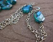 Emerald Waterfall Earrings
