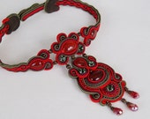 Soutache Necklace -Passionate