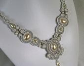 Bridal Soutache Necklace