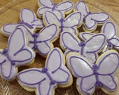 Lupus Awareness Butterfly Cookies