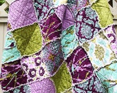 Joel Dewberry Aviary 2 in 'Lilac' Crib Rag Quilt, Sparrows