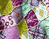 Aviary 2 in 'Lilac' Throw Sized Rag Quilt