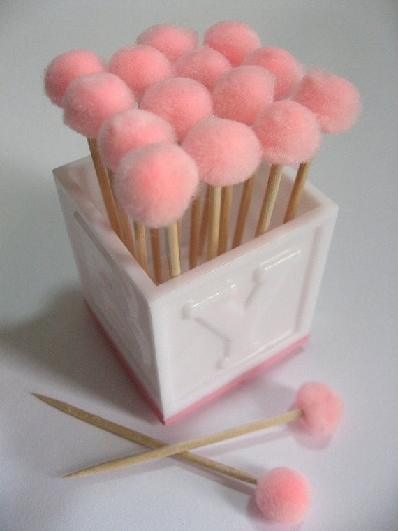 Baby Shower Pink Toothpicks, It's a girl
