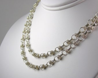 Corsica Double Strand Sterling Silver Necklace