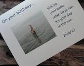 "BirthdayGreeting Card with verse ""Kick Up Your Heels..."