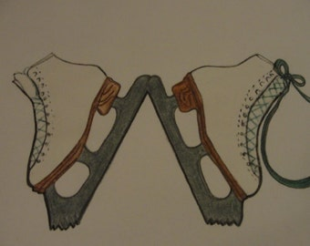 Ice Skate Drawing for Logo
