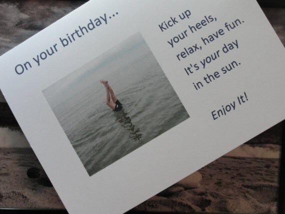 "BirthdayGreeting Card with verse ""Kick Up Your Heels..."