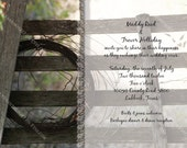 Country Western Wedding Printable Invitation