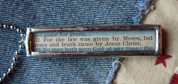 Grace Soldered Scripture Pendant