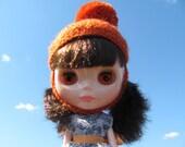 Orange Blythe Pom Pom Hat