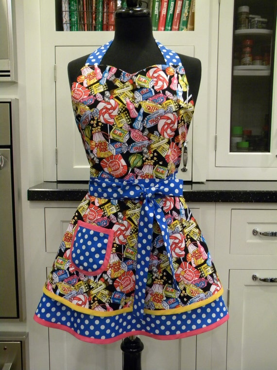 LAST ONE-Candy Shop Double Skirted Sweetheart Apron