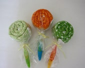 Custom Order - Burpcloth Lollipop Set (3 pack)