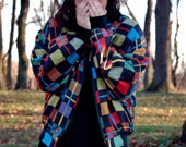 Colorful, Checkered 90s Bomber Jacket.