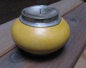 Moroccan ceramic candle holder - Mustard color