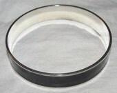 Vintage Black and Silver Bangle Bracelet