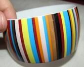 Vintage Colorful Stripes Bangle Bracelet